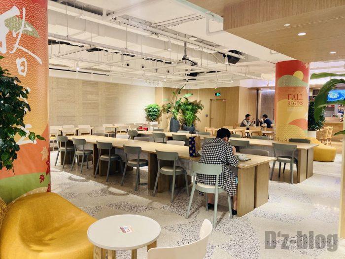 上海森ビル地下二階テーブル席全体②
