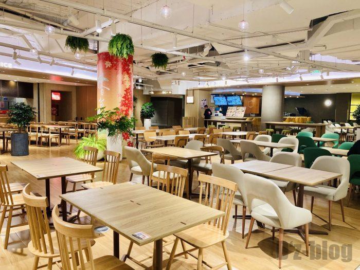 上海森ビル地下二階テーブル席全体