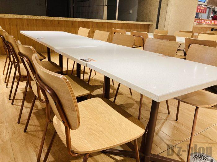 上海森ビル地下二階テーブル席4