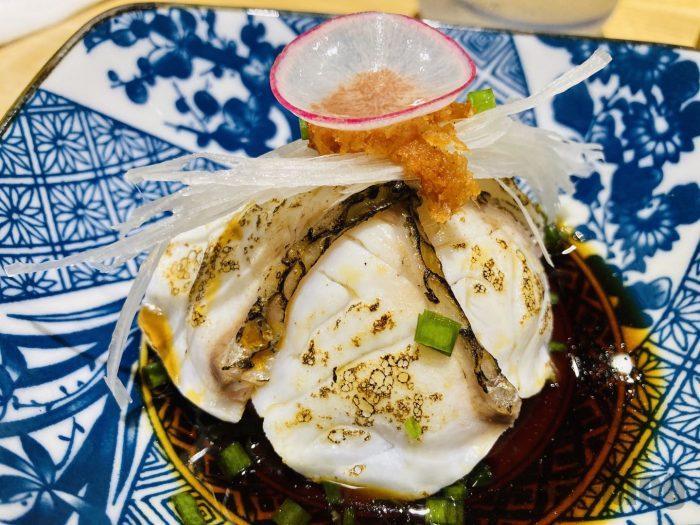 上海萬蔵タイの炙りおろしポン酢