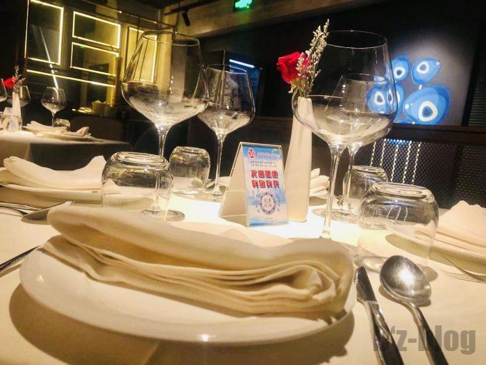 上海PashaTurkishRestaurantテーブル
