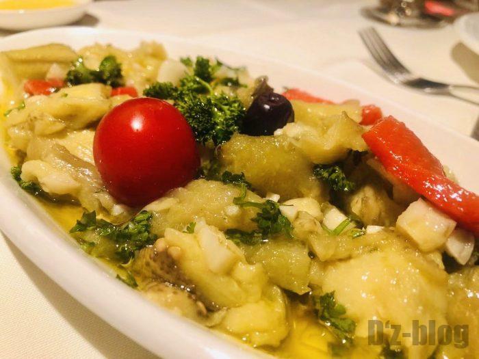 上海PashaTurkishRestaurant焼きナスとニンニクのオリーブオイル