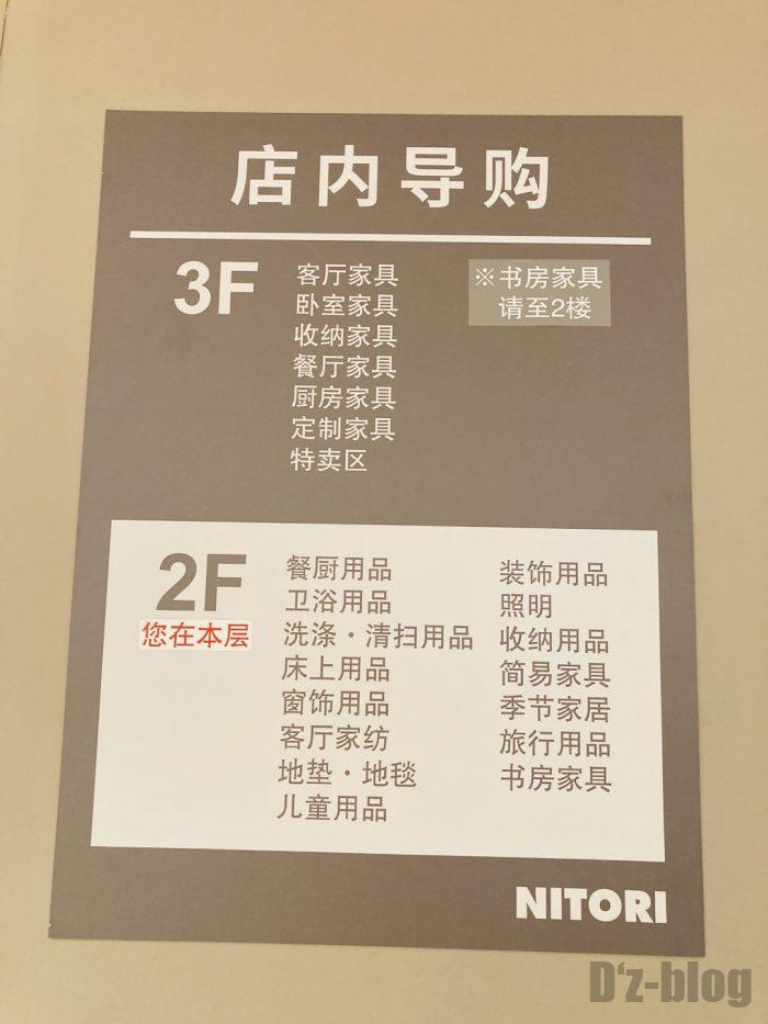 上海ニトリ案内図