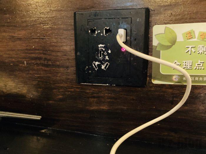 上海ころりカウンター席充電