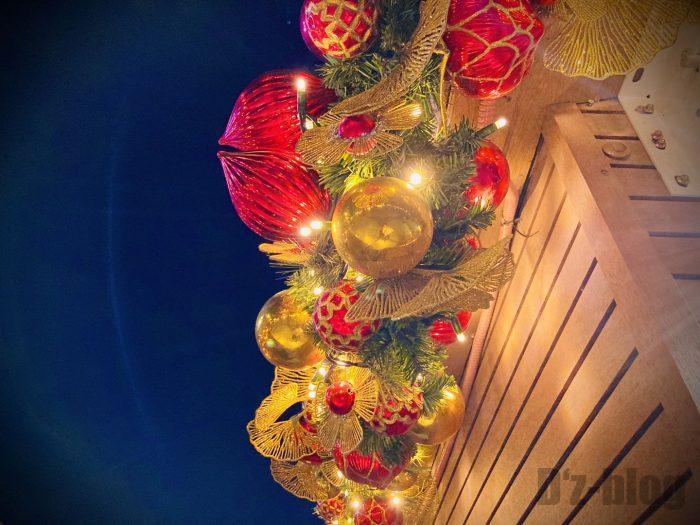 上海ディズニータウンツリー夜風景②