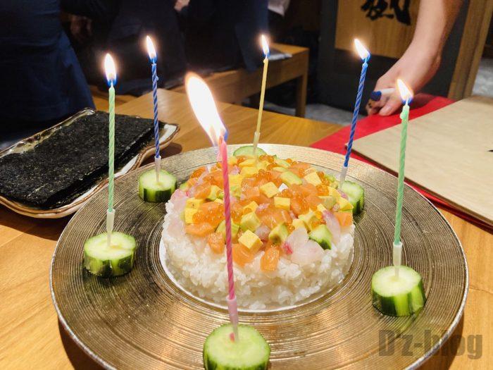 上海九州彦蔵寿司ケーキ