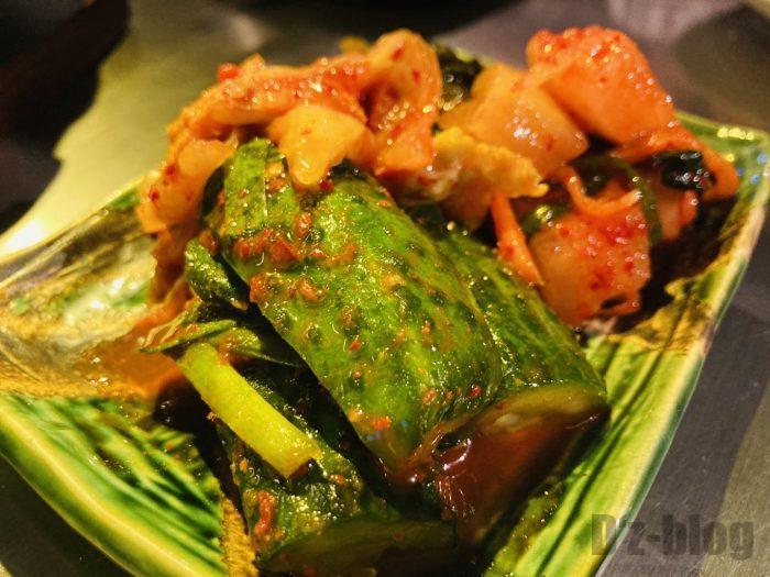 上海焼肉ひこぞうキムチ盛り合わせ