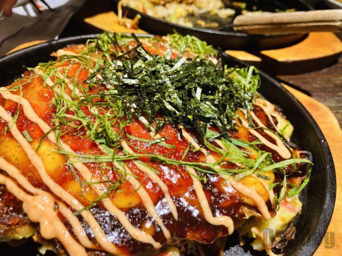 上海花月明太子ソースお好み焼き