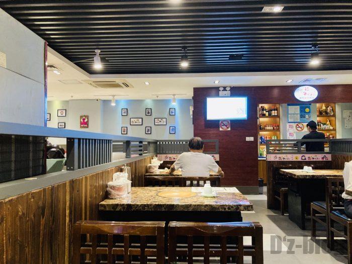 上海韓国料理屋猪牛羊店内