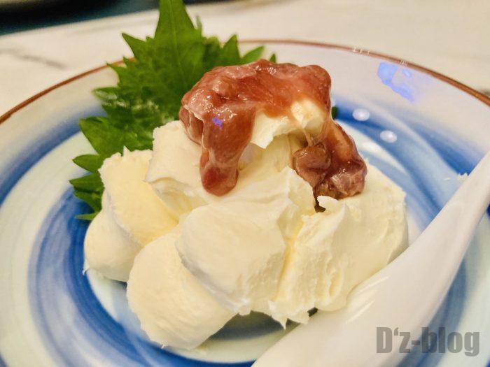 上海朧月カツオの酒盗クリームチーズ