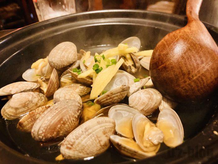 上海花ちゃんの台所ハマグリ酒蒸し