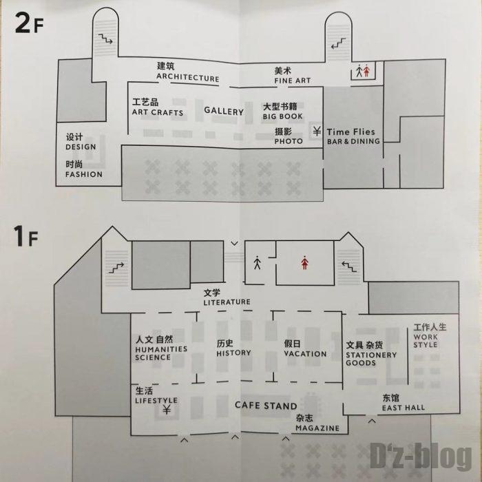 上海TSUTAYA館内地図