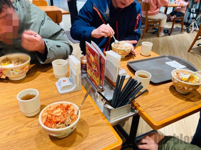上海すき家お昼ご飯