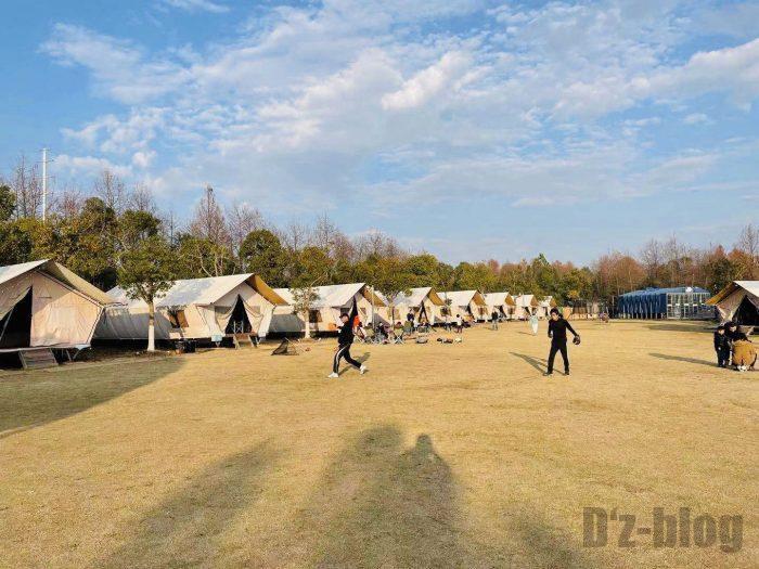 上海光明海湾国家森林公園キャンプソフト練習②