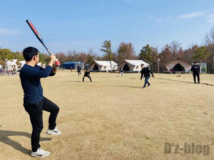 上海光明海湾国家森林公園キャンプソフト練習④