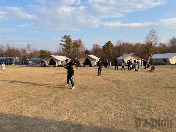 上海光明海湾国家森林公園キャンプソフト練習⑦