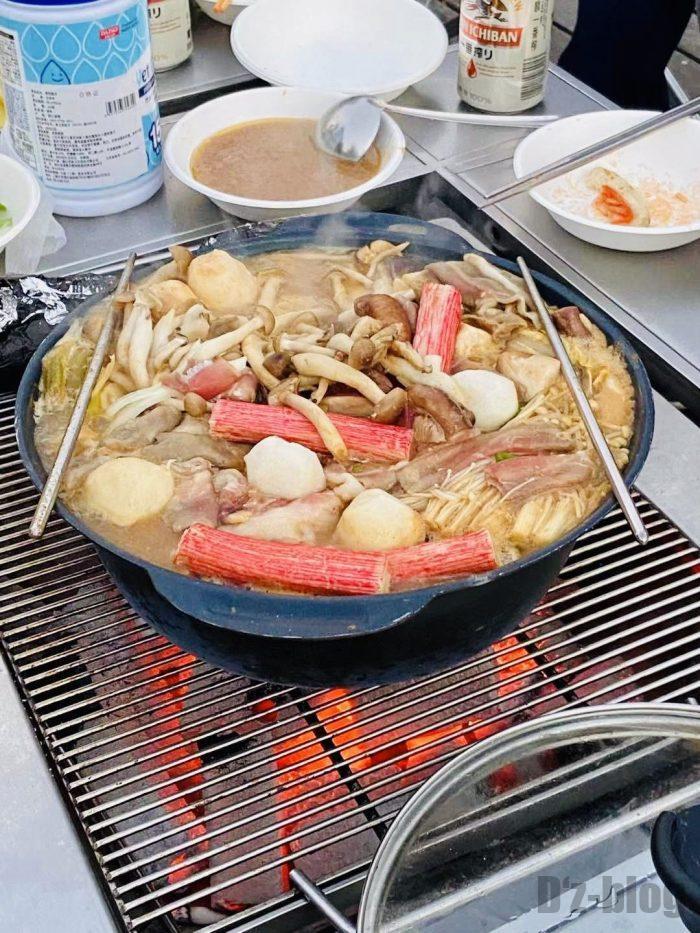 上海光明海湾国家森林公園キャンプ鍋②