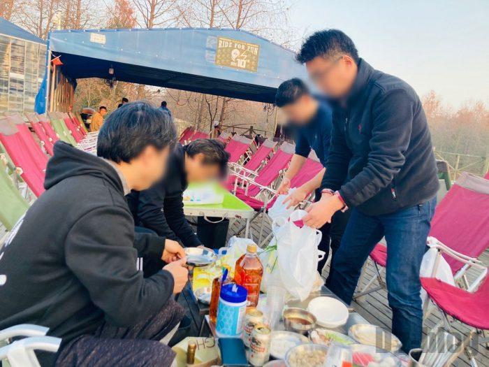 上海光明海湾国家森林公園キャンプ鍋④
