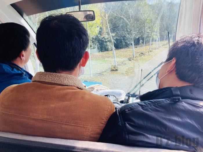 上海光明海湾国家森林公園内バス