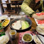 上海呷哺呷哺テーブル全体