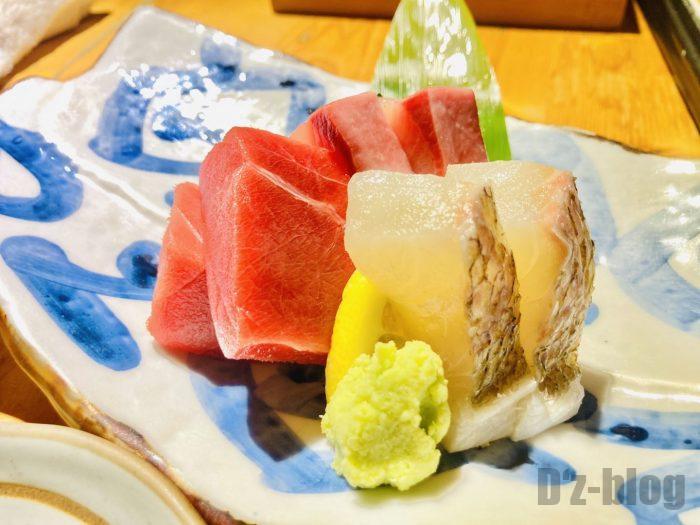 上海お箸刺身3種盛り