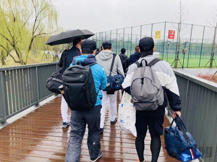 上海ソフトボールグランド移動①
