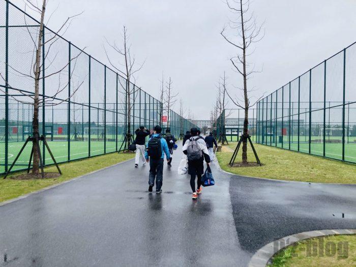 上海ソフトボールグランド移動